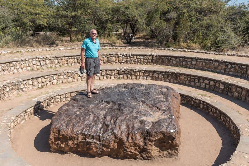 Метеорит в Намибии, самый большой известный метеорит Hoba на земле стоковое фото