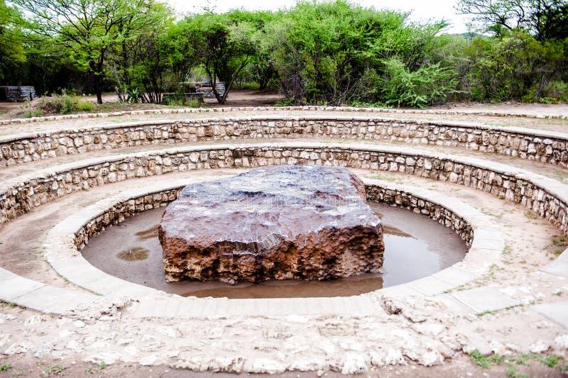 Метеорит Hoba, Намибия, Африка стоковые фотографии rf