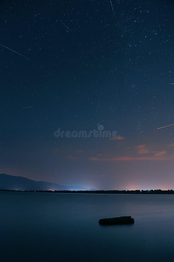 Метеорный поток Perseids стоковые фото