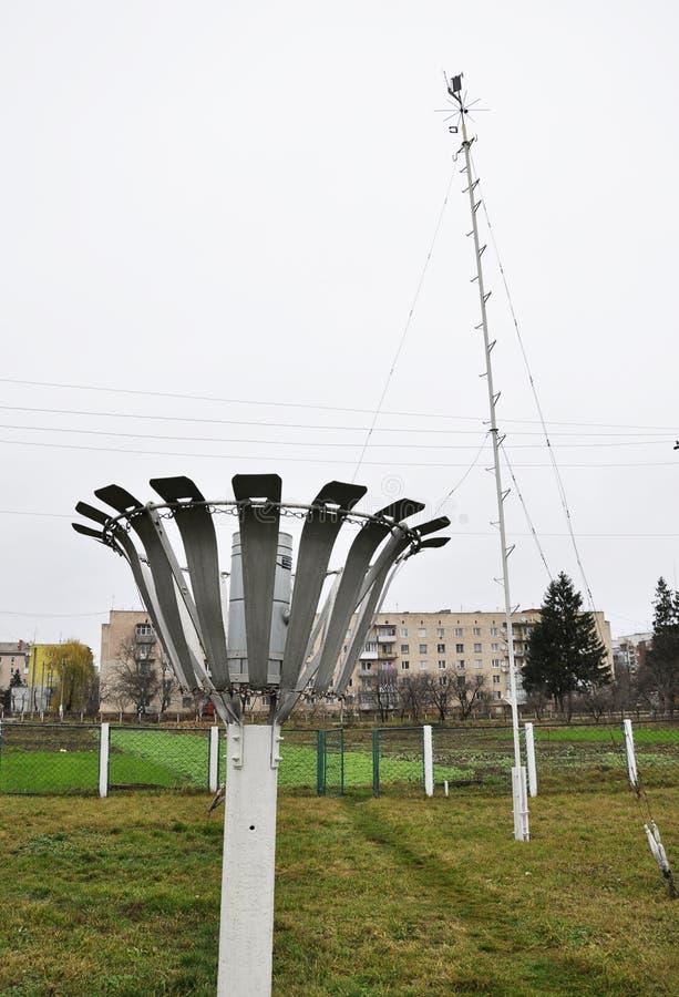 Метеорологическая спортивная площадка Chortkiv Weather_7 стоковая фотография