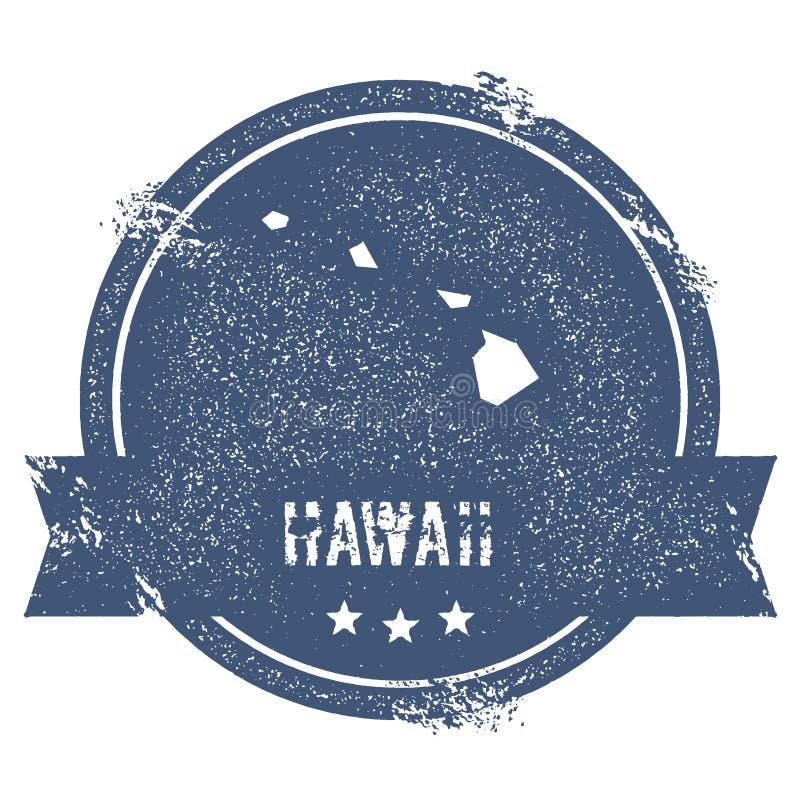 Метка Гаваи иллюстрация вектора