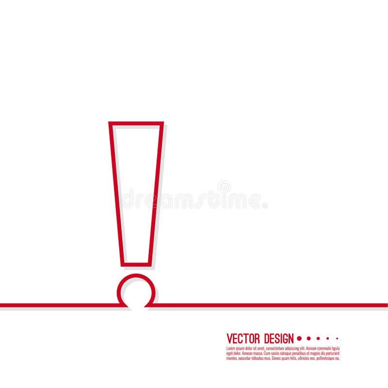 метка иконы возгласа 3d представляет иллюстрация вектора