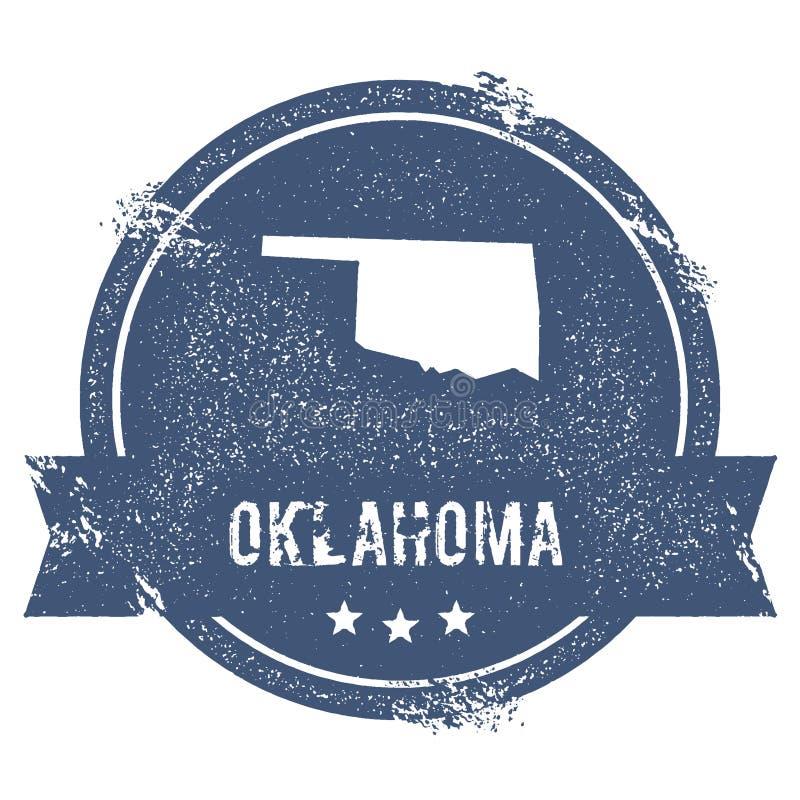 Метка Оклахомы иллюстрация штока