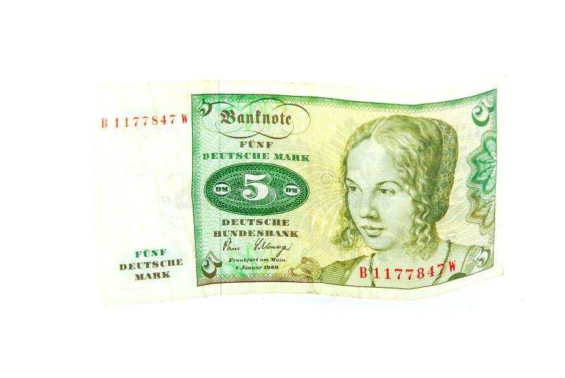метка deutsche 5 стоковая фотография