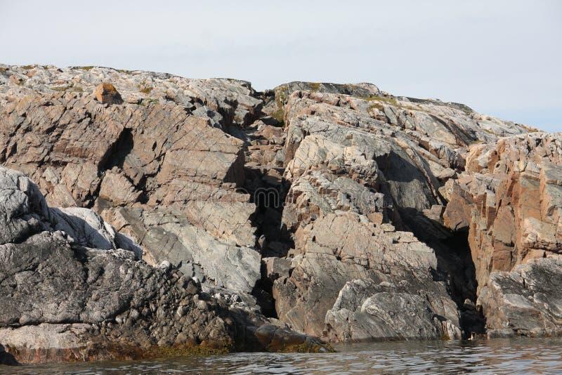 Метки голоценовой сейсмической активности в белом море стоковое изображение rf