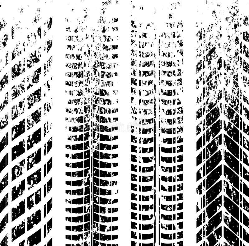 Метки следа автошины Grunge бесплатная иллюстрация