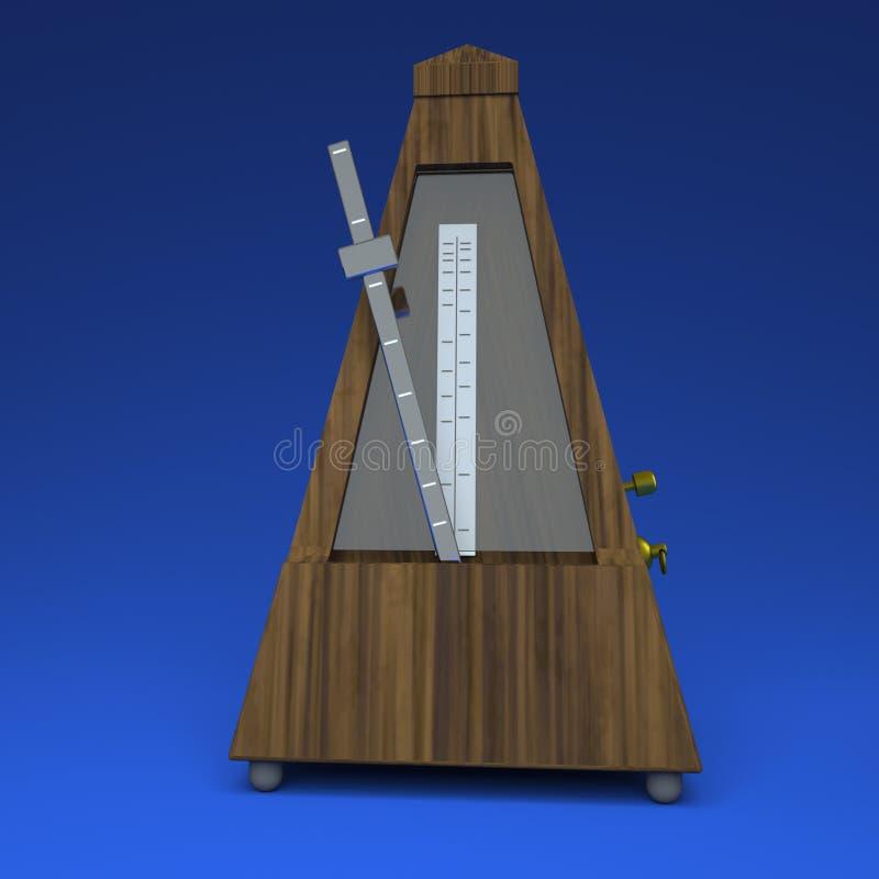 метроном перевода 3D на светлом - голубая предпосылка иллюстрация вектора