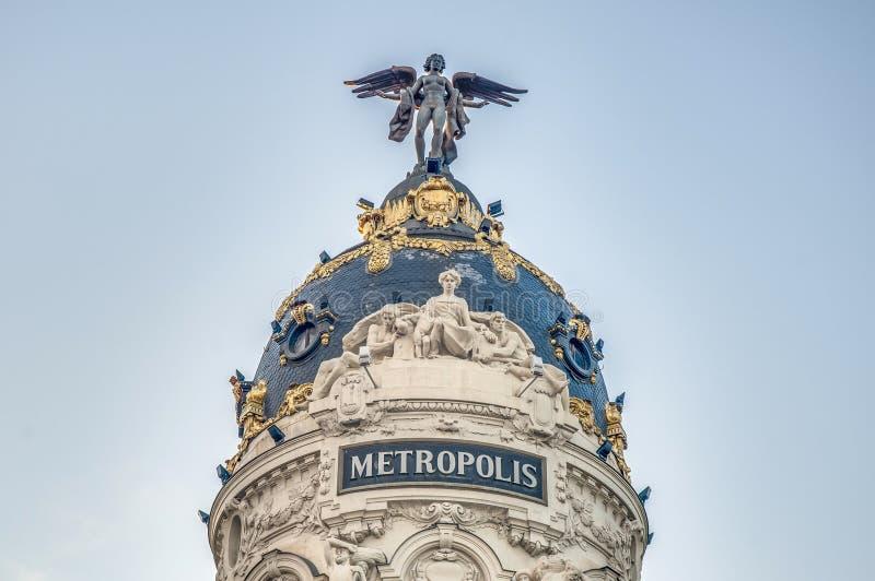 метрополия Испания madrid здания стоковые изображения