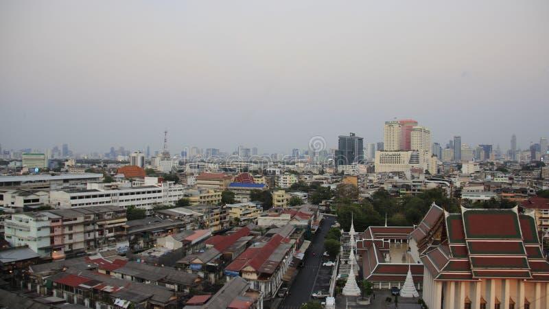 Метрополия и смог Бангкока стоковые фотографии rf