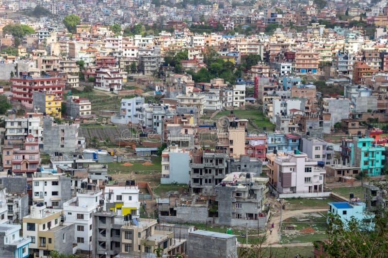 Метрополия Катманду стоковые фотографии rf