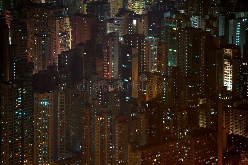 Метрополия ночи стоковые изображения rf