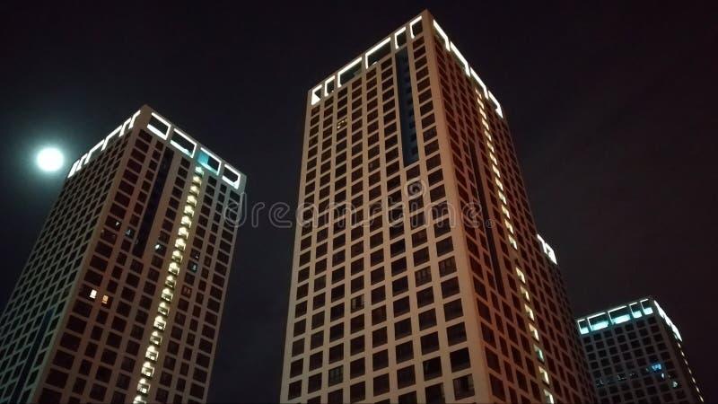 Метрополия ночи стоковая фотография