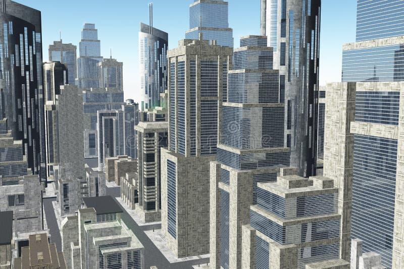 Метрополия 3D представляет стоковое фото rf