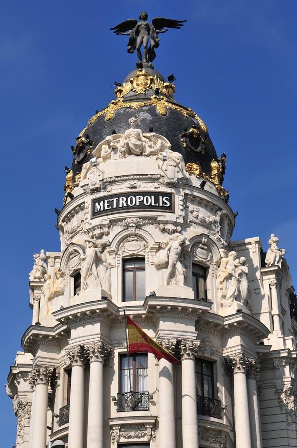 метрополия madrid здания стоковая фотография