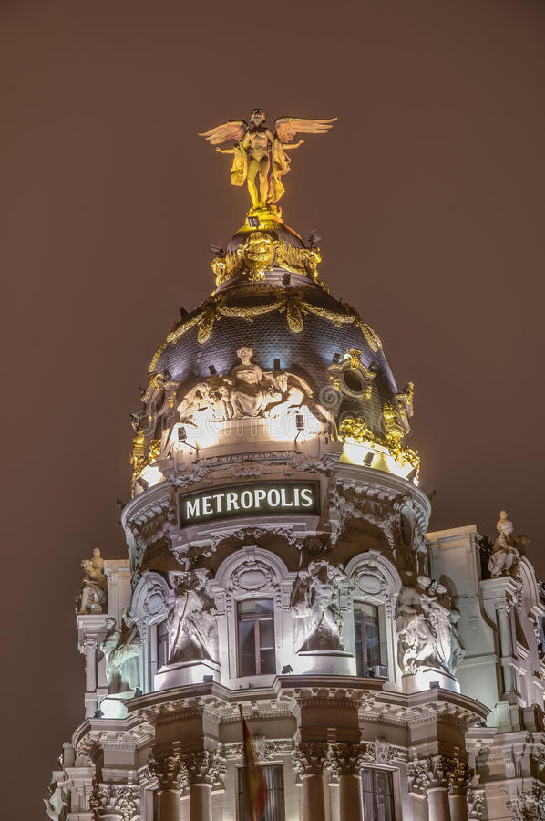 метрополия Испания madrid здания стоковые фото