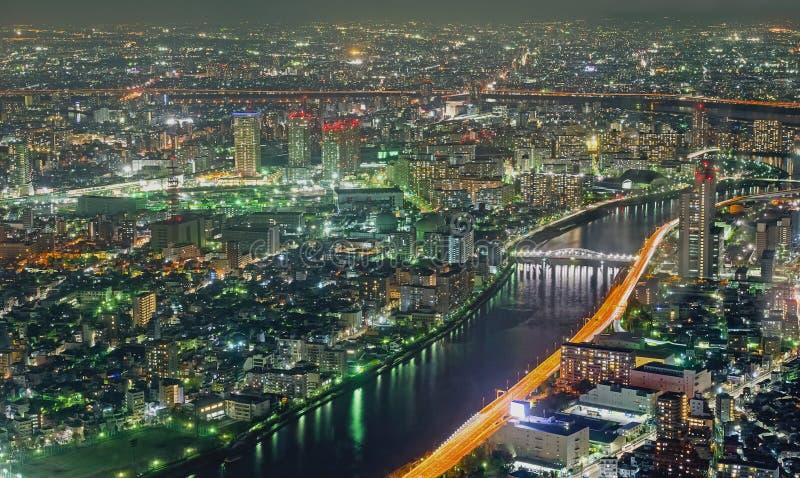 Метрополия токио, ноча стоковое фото rf