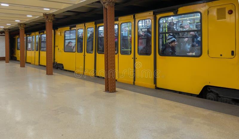 Метро Будапешта самое старое electrified метро стоковая фотография rf