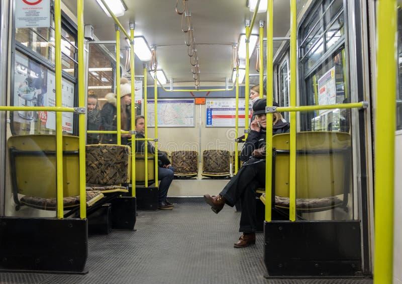 Метро Будапешта самое старое electrified метро стоковые изображения
