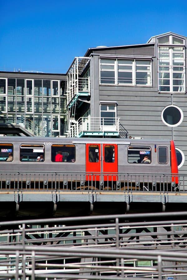 Метро в Гамбурге Редакционное Стоковое Фото