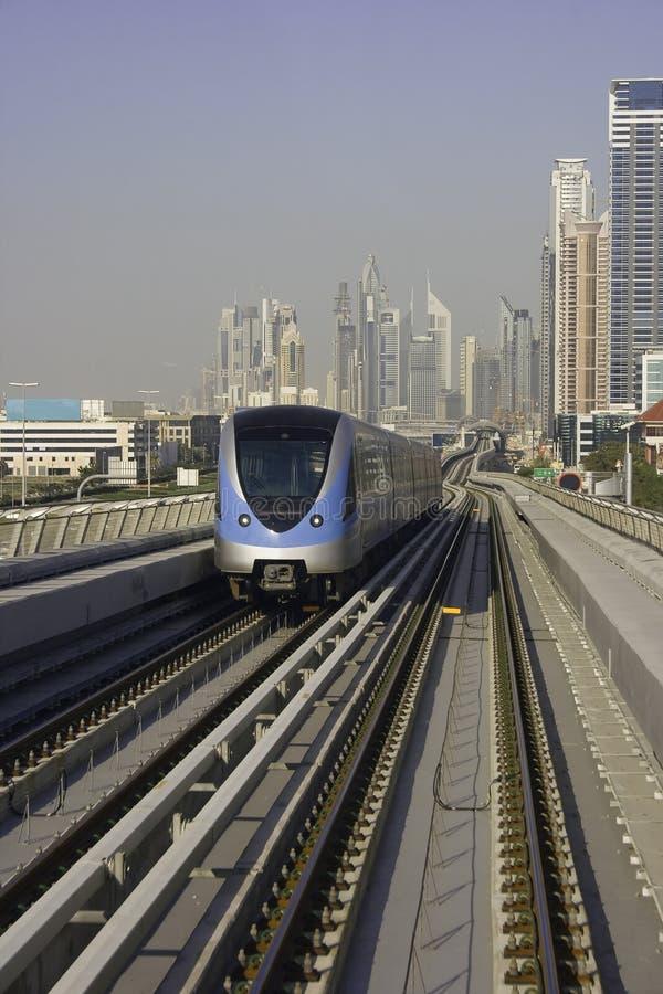 метро Дубай стоковая фотография rf
