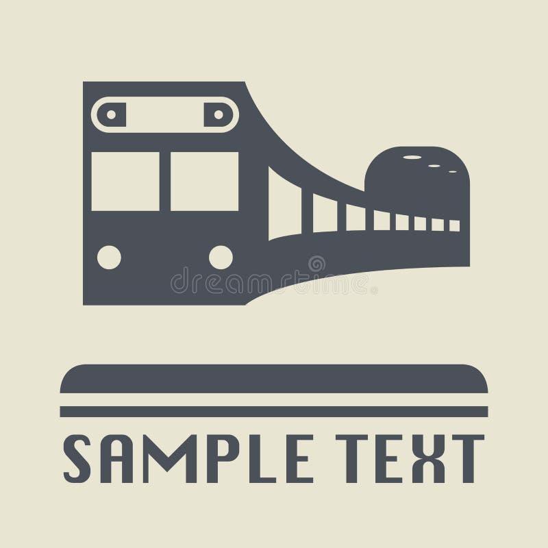 Метро или значок или знак поезда иллюстрация штока