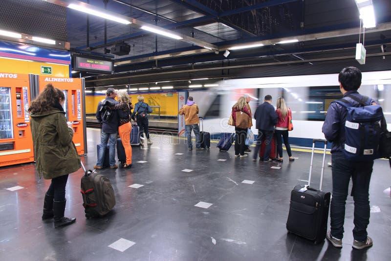 Метро Мадрида стоковое изображение rf
