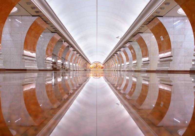 Метро Москвы стоковое изображение rf