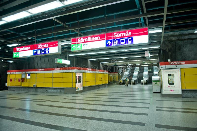метро helsinki стоковая фотография