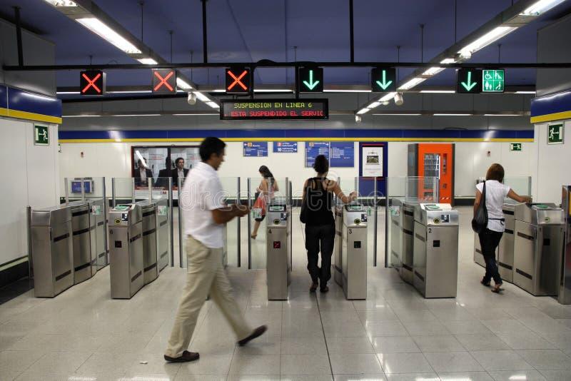 метро madrid стоковое изображение