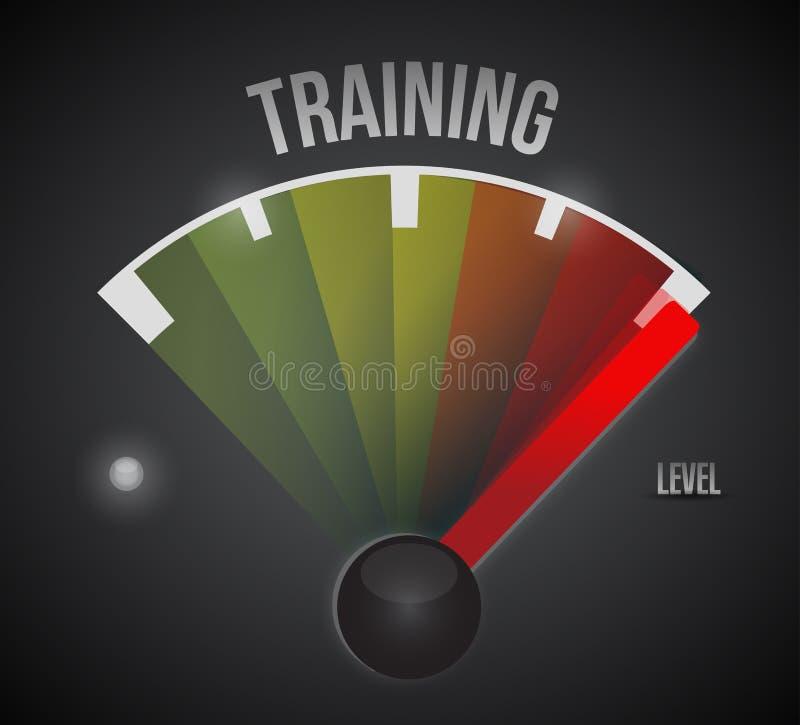 Метр измерения уровня подготовки персонала от низкого уровня к максимуму иллюстрация штока
