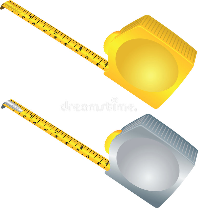 метр измерения иллюстрация штока