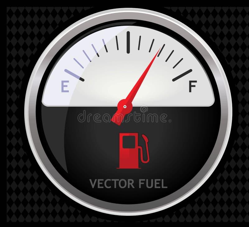 метр топлива иллюстрация вектора