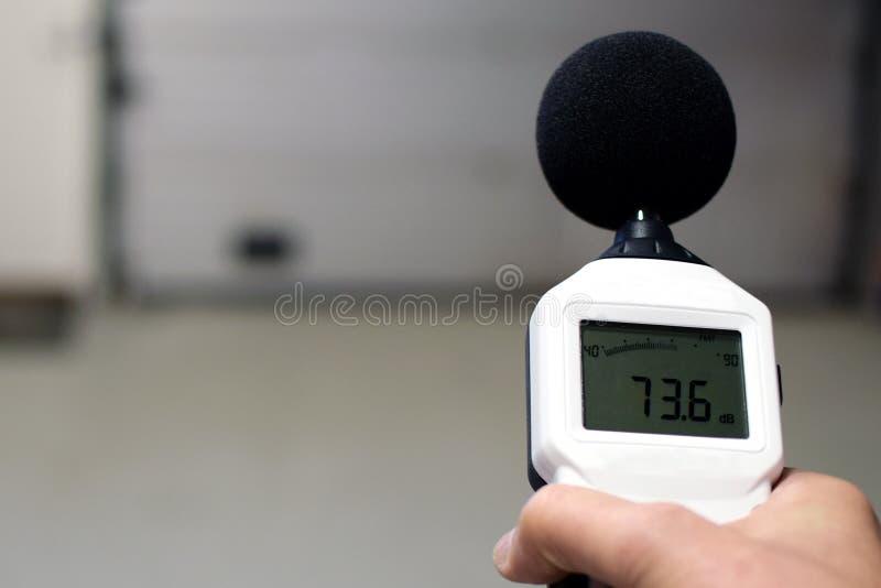Метр уровня звука стоковое фото