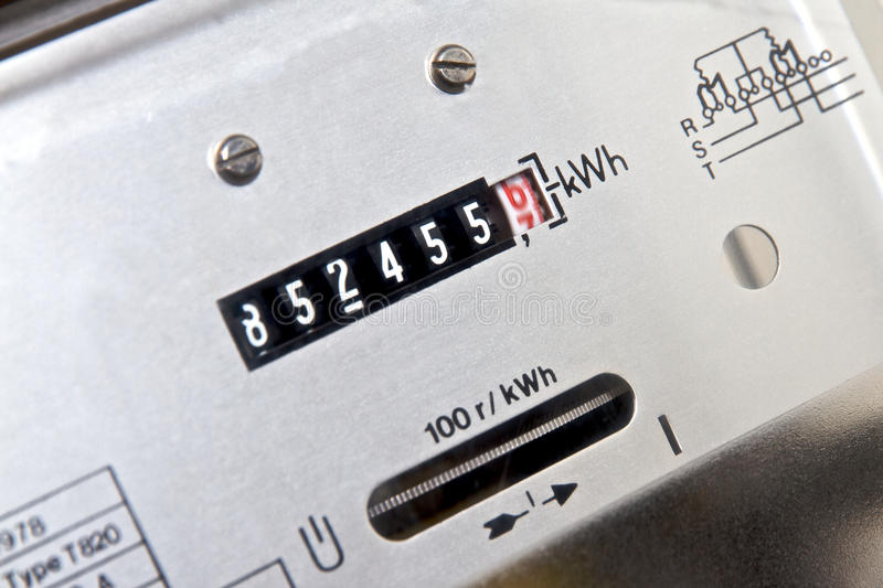 метр электричества стоковое изображение rf