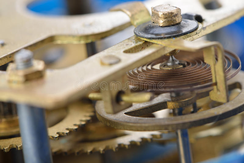 механизм будильника старый стоковое изображение