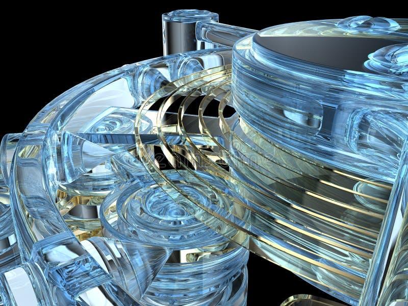механизм изолированный clockwork иллюстрация штока