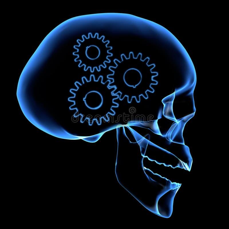 механизм мозга иллюстрация вектора