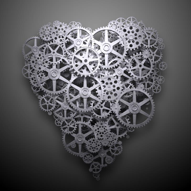 Механизм символа сердца иллюстрация вектора