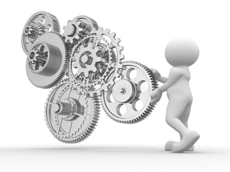 механизм шестерни иллюстрация вектора
