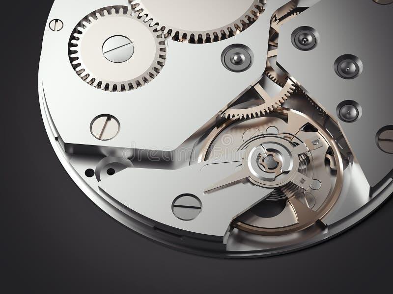 Механизм Clockwork перевод 3d иллюстрация штока
