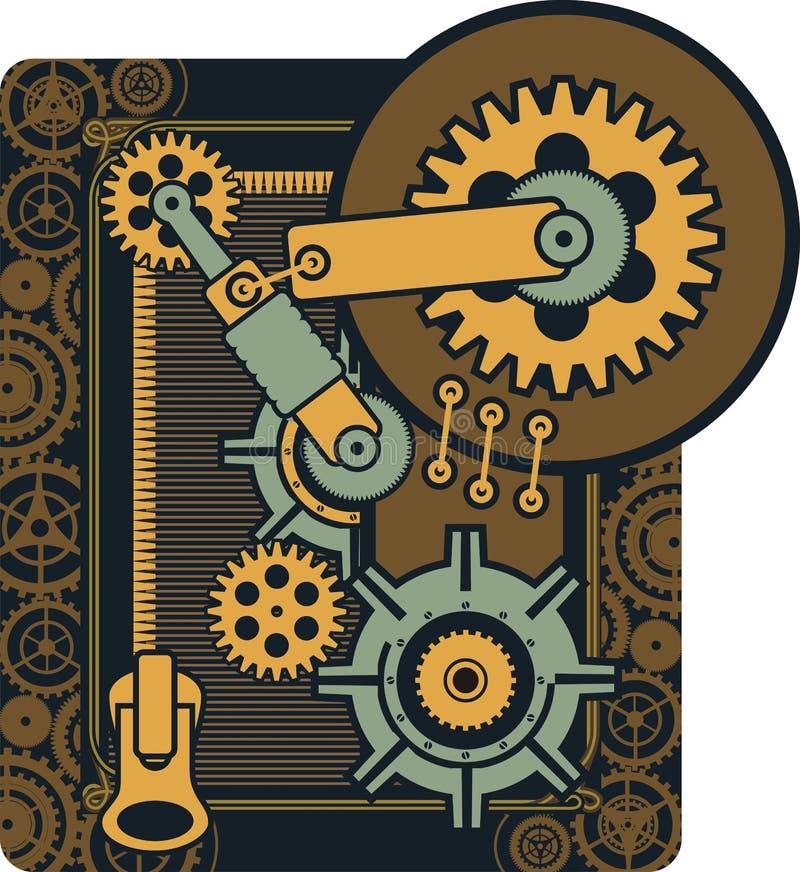Механизм Steampunk иллюстрация штока