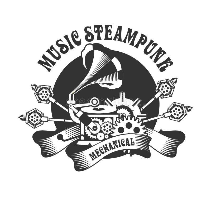 Механизм Steampunk иллюстрация вектора