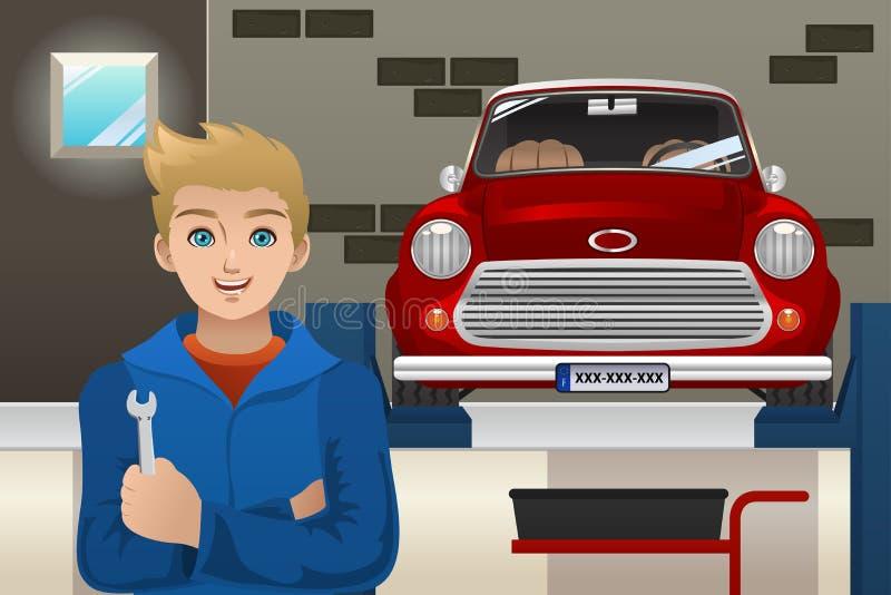 механик автомобиля бесплатная иллюстрация