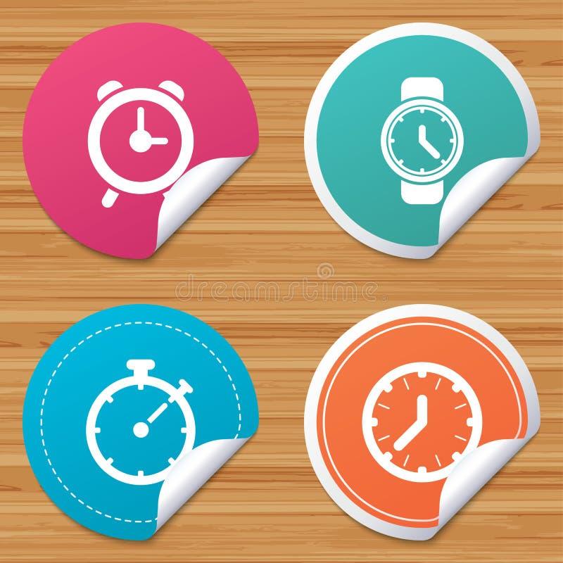 Download Механически значки времени часов Таймер секундомера Иллюстрация вектора - иллюстрации насчитывающей информация, кнопка: 81806343