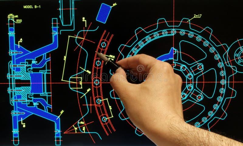 Механически дизайн части стоковая фотография