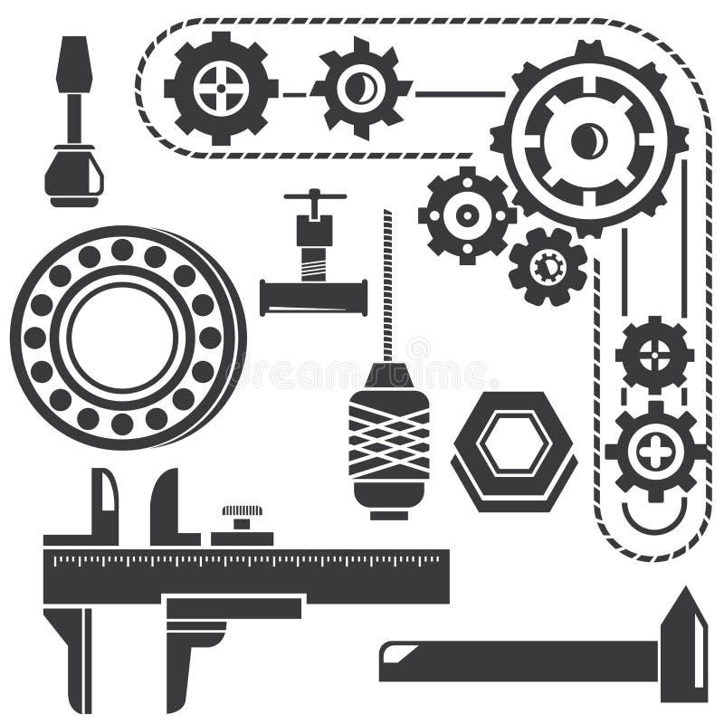механически инструменты иллюстрация штока