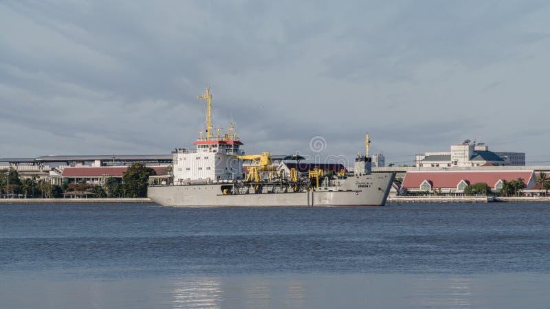 Механически корабль земснаряда стоковое фото rf