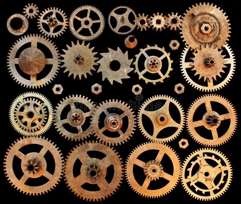 Механически колеса шестерней cogs стоковые фотографии rf