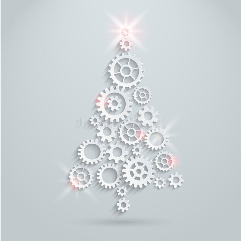 Механически рождественская елка иллюстрация вектора