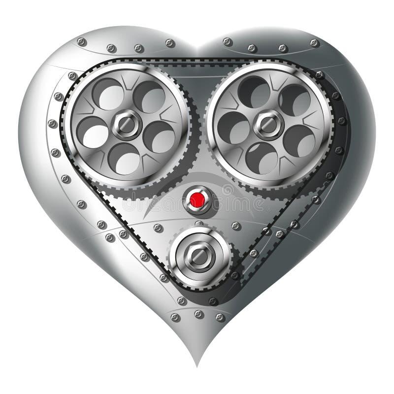 Механически сердце иллюстрация штока